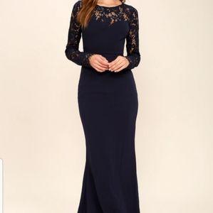 Lulus navy lace dress